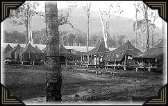 Seabees military barracks in the South Pacific.